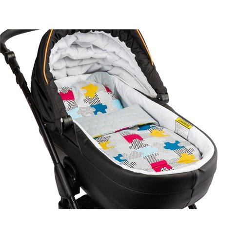 Pagalvė su pleduku vežimėliui Sillo Velvet Pilka puzzle