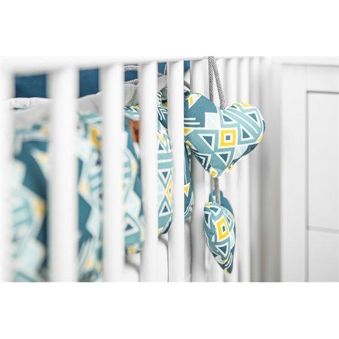 Kūdikio lizdas Sillo Velvet 80x45cm Mėlyni ornamentai