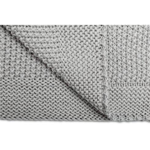 Megztas pledukas Sillo Šviesiai pilkas 100x80