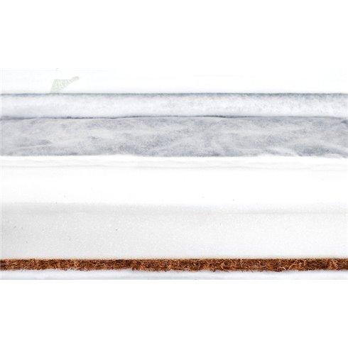 Grikinis-kokosinis čiužinys Sillo Luxe 120x60x11cm