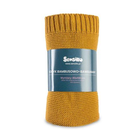 Bambukinis-medvilninis pledas Sillo Oranžinis 100x80cm