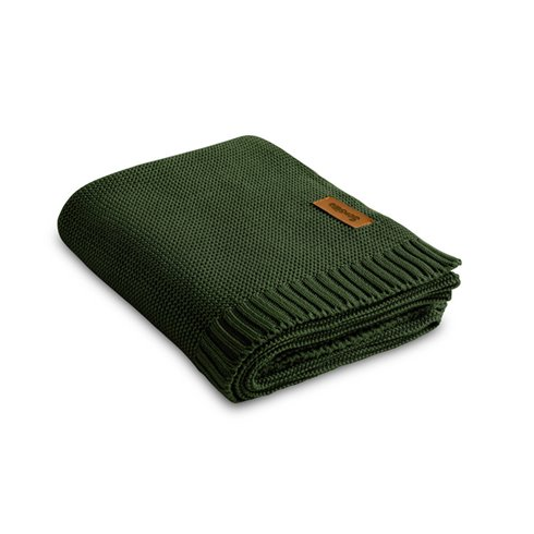 Bambukinis-medvilninis pledas Sillo Žalias 100x80cm