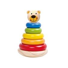 Linguojantis medinis žaislas piramidė Meškiukas TOOKY TOY