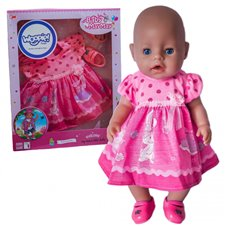 Rožinė suknelė su zuikučiu WOOPIE