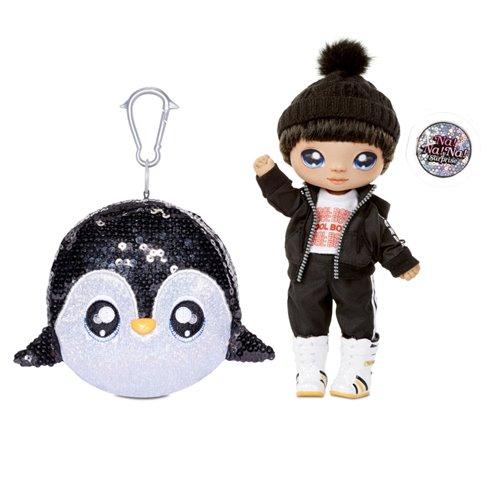 Lėlė Andre Avalanche ir pingvinas konfeti balione Na! Na! Na! Surprise Sparkle