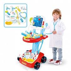 Gydytojo rinkinys su vežimėliu ir dar 17 priedų WOOPIE