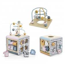 VIGA PolarB Activity Box Drewniane Edukacyjne Centrum Gier 5w1 kostka