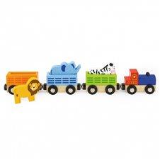 Medinis traukinukas su gyvūnais VIGA