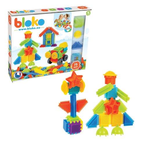 Mochtoys Klocki Jeżyki Pin Bricks 75 el. w pudełku Bloko Mochtoys