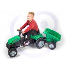 Minamas traktorius su priekaba WOOPIE Žalias