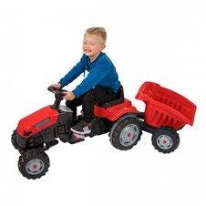 Minamas traktorius su priekaba WOOPIE Raudonas