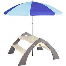 Medinis iškylos stalas su skėčiu AXI