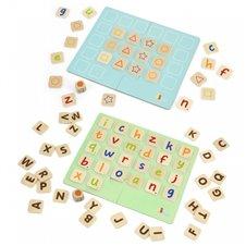 VIGA Gra Zapamiętywanie Memo Literki Nauka Alfabetu Viga
