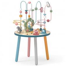 VIGA Drewniany Stolik Edukacyjny Manipulacyjny Przeplatanka Viga Toys
