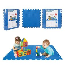 Edukacinis mėlynas putų kilimėlis WOOPIE