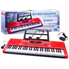 Pianino klaviatūra JK PTP00132 raudona