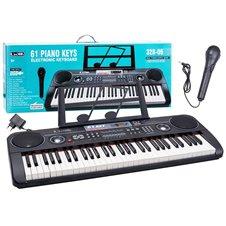 Pianino klaviatūra su mikrofonu JK PTP00082 juoda
