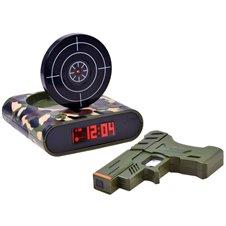 JK Žadintuvas su ginklu laikrodis PTP02486