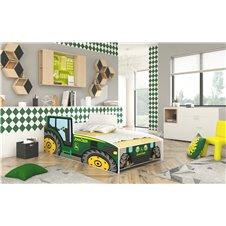 Lova - mašina Žalias traktorius 160x80