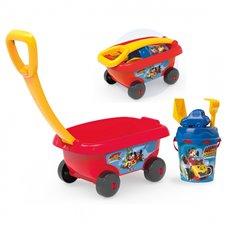 Mickey Mouse smėlio vežimėlis su kibiru ir priedais Smoby