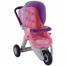 Didelis lėlių vežimėlis QT violetinės-rausvos spalvos