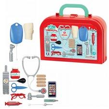 Vaikiškas gydytojo lagaminas su visa įranga 17 priedų Ecoiffier