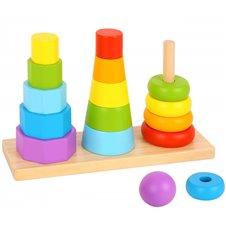 Formelių rūšiuokliai TOOKY TOY tris bokštai