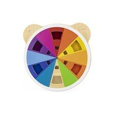 Medinė spalvų maišymo diagrama VIGA