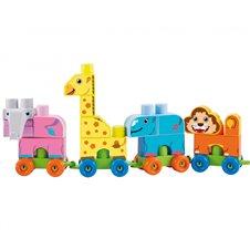 Sodo traukinys gyvūnai Ecoiffier Abrick Maxi