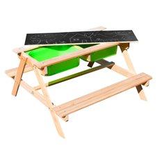 Medinis iškylos stalas su priedais SUNNY