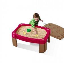 Didelis smėlio stalas su dangčiu STEP2