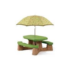 Iškylos stalas su skėčiu STEP2