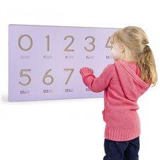 Mokymosi numerių šablonas Viga  medinei lentai