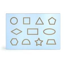 Edukacinė lenta su geometrinėmis formomis Viga Toys