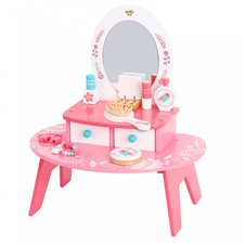 Medinis tualetinis staliukas TOOKY TOY Rožinis