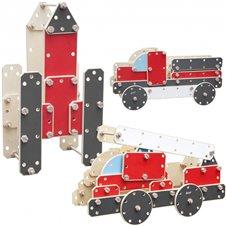 Medinių konstrukcijų transporto priemonių rinkinys CLASSIC WORLD