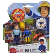 Simba Figurki Strażak Sam Sam i Ellie Akcesoria