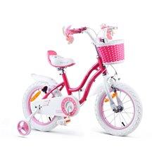 RoyalBaby Rower dziewczęcy STAR GIRL 14cal RB14G-1 Pink