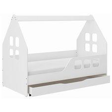 Lova - namelis Wooden 160x80 su stalčiumi D