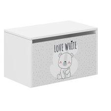 Žaislų dėžė Wooden Love White
