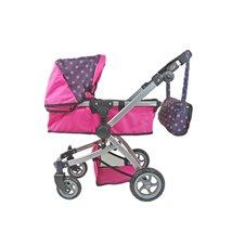 Lėlių vežimėlis ST 9651B Hot Pink