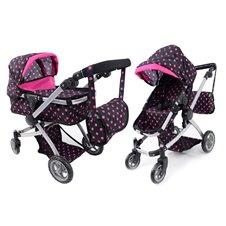 Lėlių vežimėlis ST 9651B Small Hot Pink
