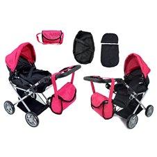 Lėlių vežimėlis ST 9346 New Hot Pink