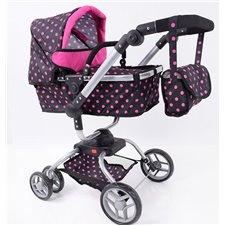 Lėlių vežimėlis ST 9623 Small Hot Pink