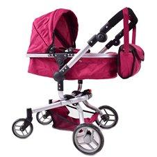Lėlių vežimėlis ST 9695 Bordo