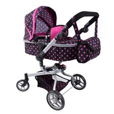 Lėlių vežimėlis ST 9695 Small Hot Pink