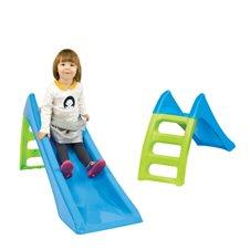 WOOPIE Zjezdzalnia Ogrodowa dla dzieci ze slizgiem wodnym Fun Slide 116 cm Niebieska