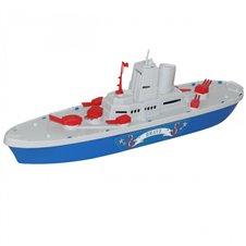 Statek lodka Okret Wojskowy smialy 46cm