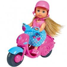 Lėlė Evi motoroleryje SIMBA