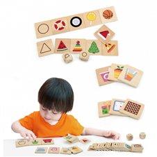 Edukacinis žaidimas medinė dėlionė derinti formas VIGA